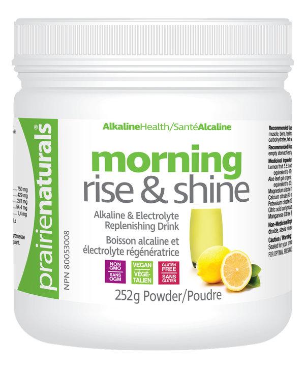 Prairie Naturals - Morning Rise & Shine Alkaline Mineral Drink - 252 g