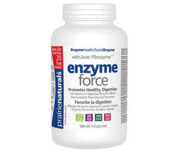 Prairie Naturals - Enzyme-Force - 120+20 V-Caps Bonus Size