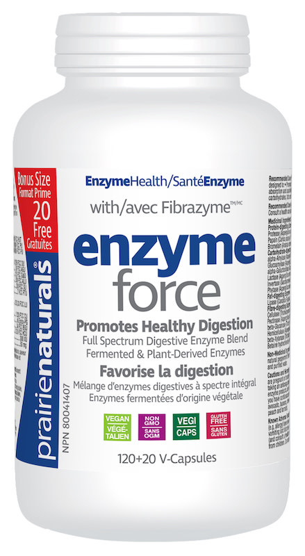 Prairie Naturals Prairie Naturals - Enzyme-Force - 120+20 V-Caps Bonus Size