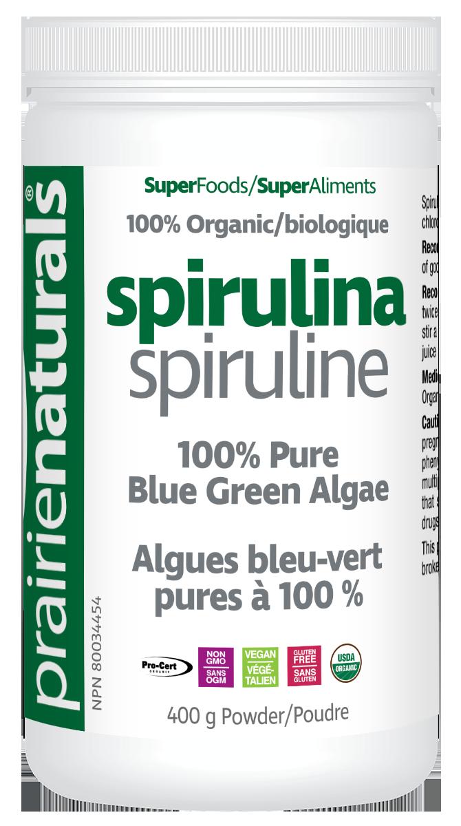 Prairie Naturals Prairie Naturals - Spirulina - Organic - 400g