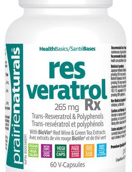 Prairie Naturals Prairie Naturals - Resveratrol Rx - 60 V-Caps
