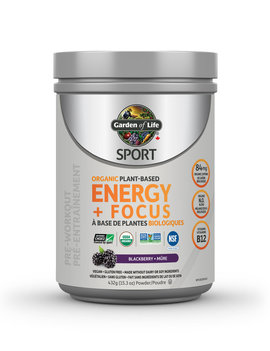 Garden of Life Garden of Life - Organic Plant Based Energy + Focus - Blackberry - 432g
