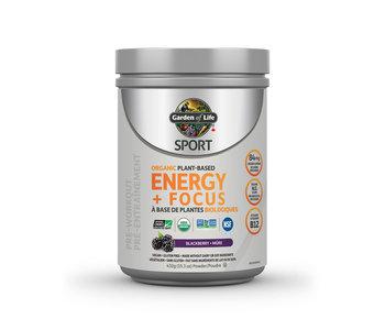 Garden of Life - Organic Plant Based Energy + Focus - Blackberry - 432g
