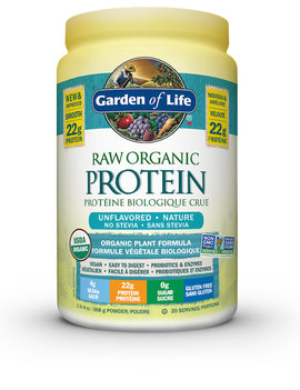 Garden of Life Garden Of Life - Raw Organic Protein - Unflavored NO Stevia - 568g