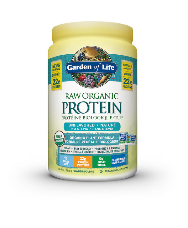 Garden Of Life - Raw Organic Protein - Unflavored NO Stevia - 568g