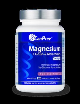 CanPrev - Canadian CanPrev - Magnesium +GABA & Melatonin - 120 V-Caps