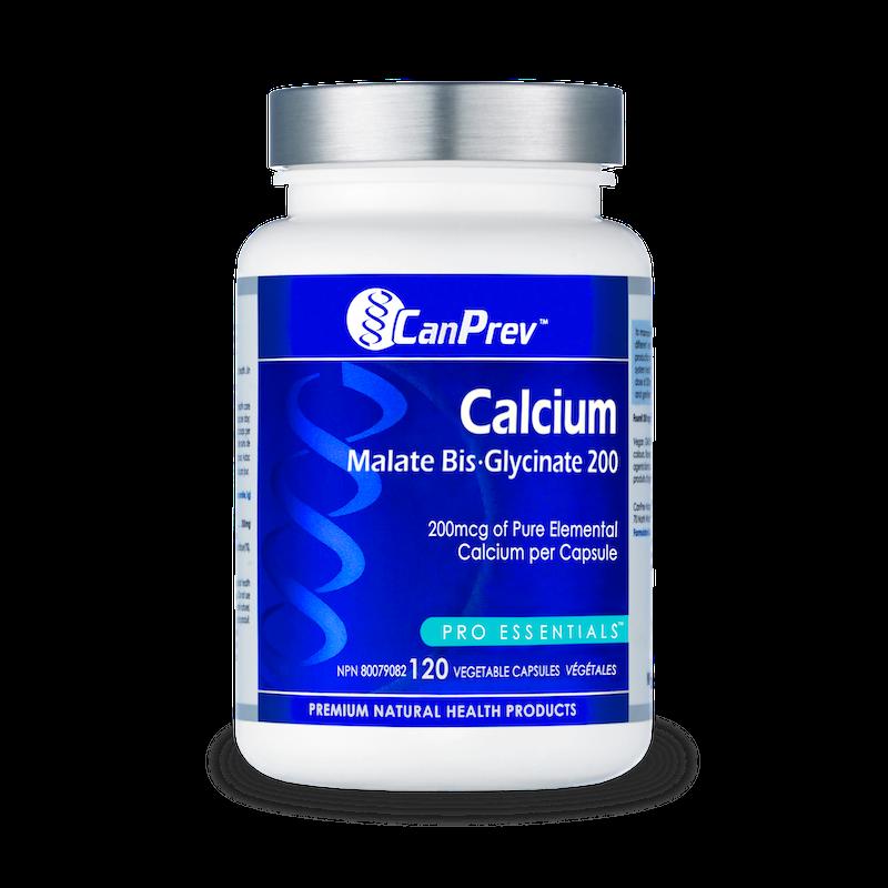 CanPrev - Canadian CanPrev - Calcium Malate Bisglycinate 200 - 120 Vcaps