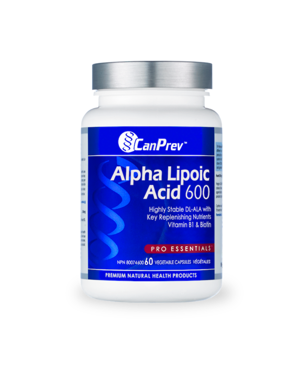 CanPrev - Alpha Lipoic Acid 600mg - 60 V-Caps