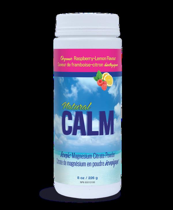 Natural Calm - Magnesium Citrate Powder - Raspberry Lemon - 8oz