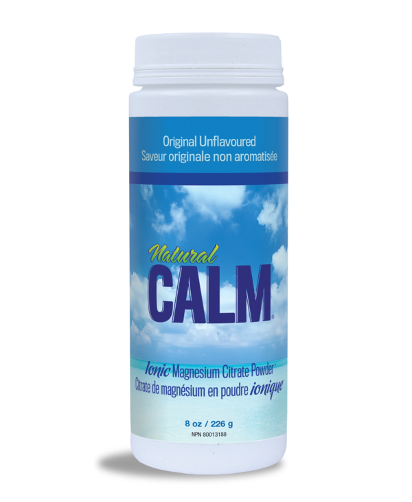 Natural Calm - Magnesium Citrate Powder - Original Unflavoured -  8oz