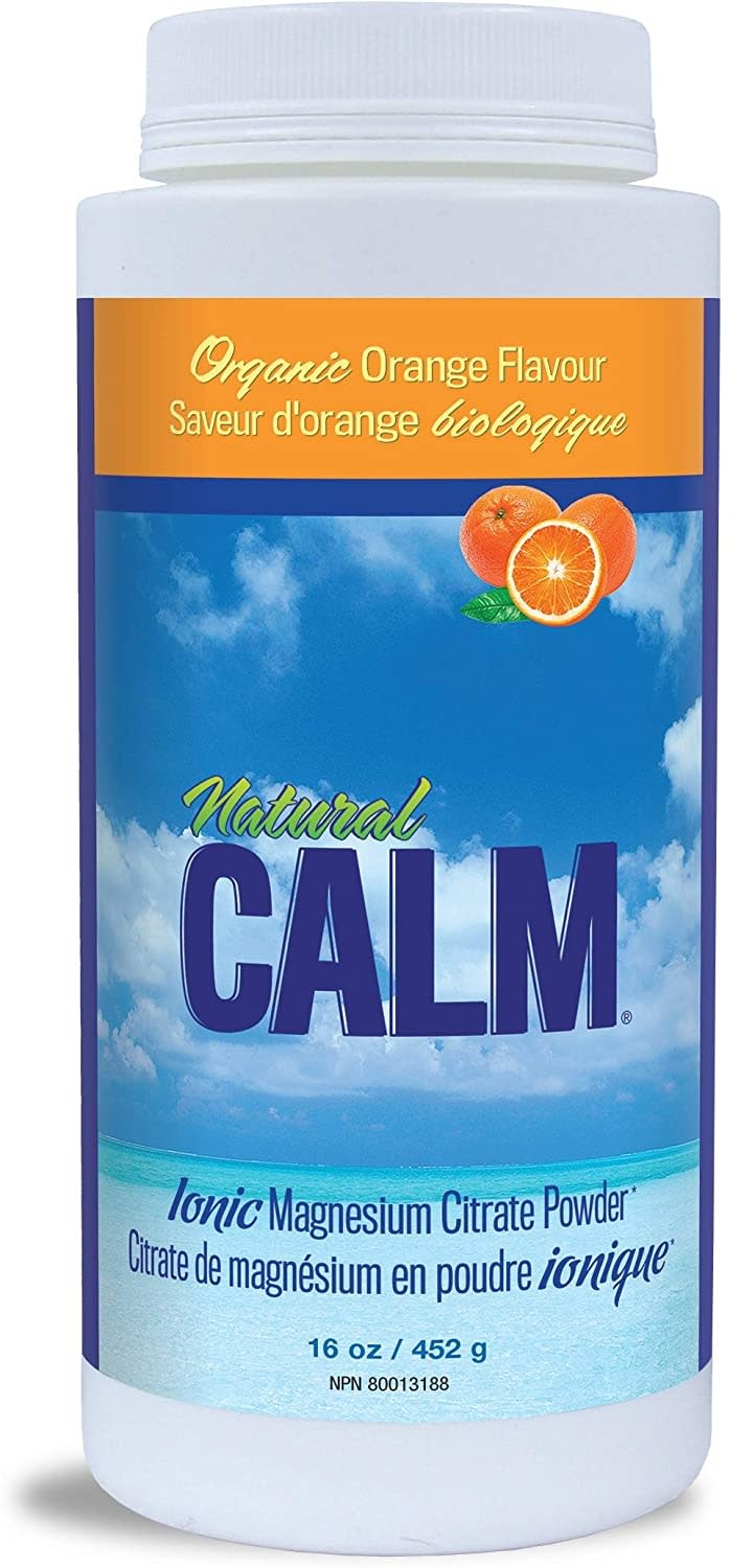 Natural Calm Natural Calm - Magnesium Citrate Powder - Organic Orange - 16oz