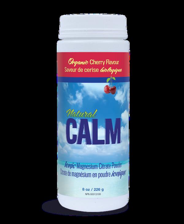 Natural Calm - Magnesium Citrate Powder - Organic Cherry - 8oz