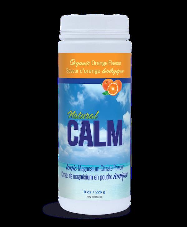 Natural Calm - Magnesium Citrate Powder - Organic Orange - 8oz