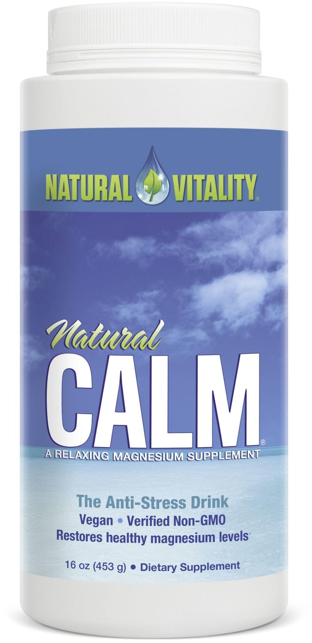 Natural Calm Natural Calm - Magnesium Citrate Powder - Original Unflavoured - 16oz