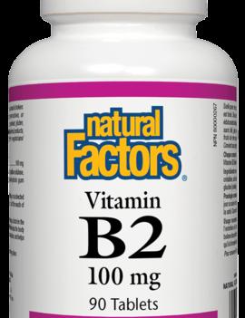 Natural Factors Natural Factors - Vitamin B2 100 mg - 90 Tabs