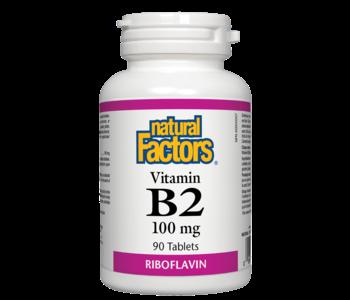 Natural Factors - Vitamin B2 100 mg - 90 Tabs