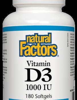 Natural Factors Natural Factors - Vitamin D3 1000 IU - 180 SG