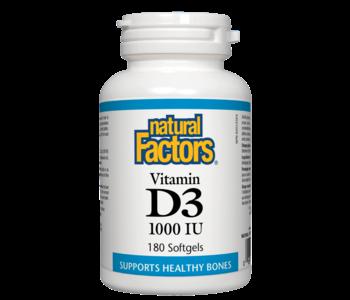 Natural Factors - Vitamin D3 1000 IU - 180 SG