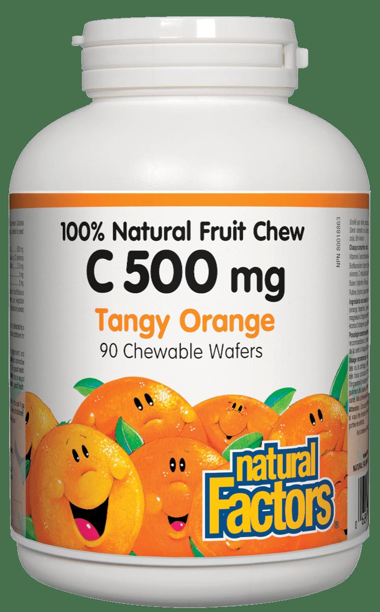 Natural Factors Natural Factors - Vitamin C 500 mg - Tangy Orange - 90 Chewable
