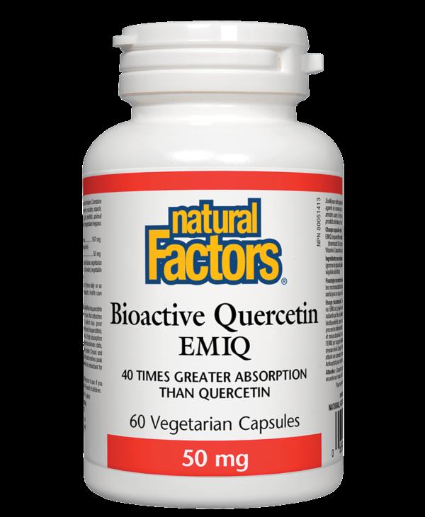 Natural Factors - Bioactive Quercetin EMIQ 50mg - 60 Caps
