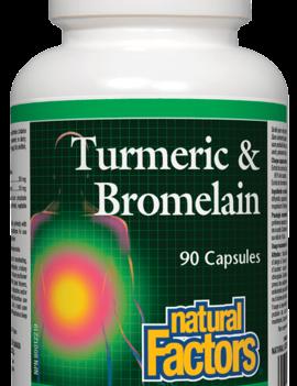 Natural Factors Natural Factors - Turmeric & Bromelain - 90 Caps