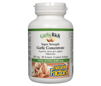 Natural Factors - GarlicRich - Super Strength Garlic Concentrate 500mg - 90 SG
