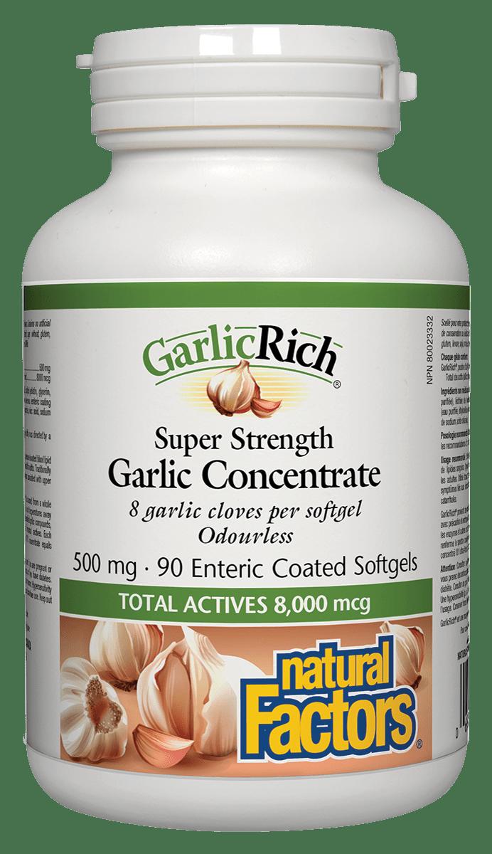 Natural Factors Natural Factors - GarlicRich - Super Strength Garlic Concentrate 500mg - 90 SG