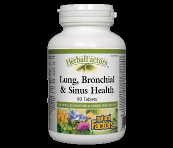 Natural Factors - Lung, Bronchial & Sinus Health - 90 Caps