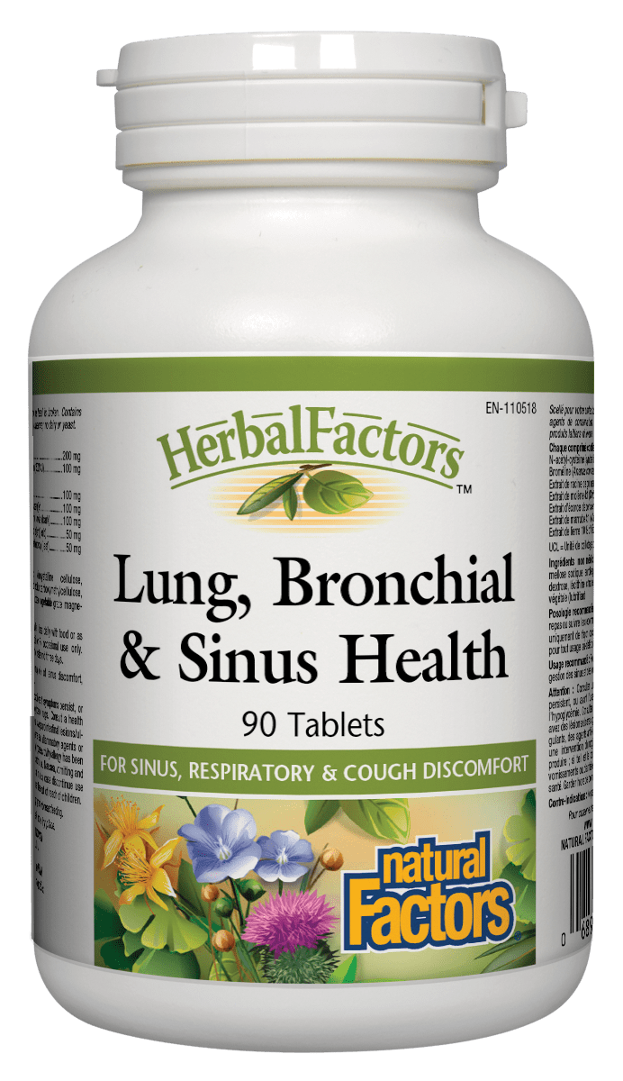 Natural Factors Natural Factors - Lung, Bronchial & Sinus Health - 90 Caps