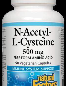 Natural Factors Natural factors - N-Acetyl-l-Cysteine 500 mg - 90 Caps