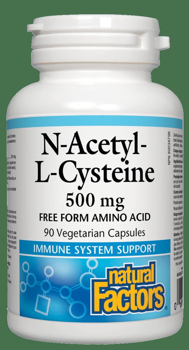 Natural Factors Natural factors - N-Acetyl-l-Cysteine 500 mg - 90 V-Caps