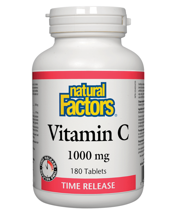 Natural Factors - Vitamin C 1000 mg Time Release - 180 Tabs