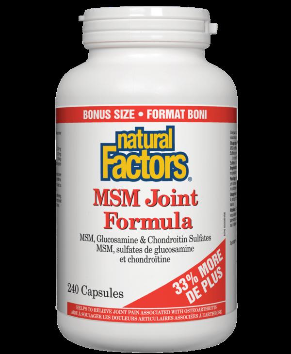 Natural Factors - MSM Joint Formula - 240 Caps