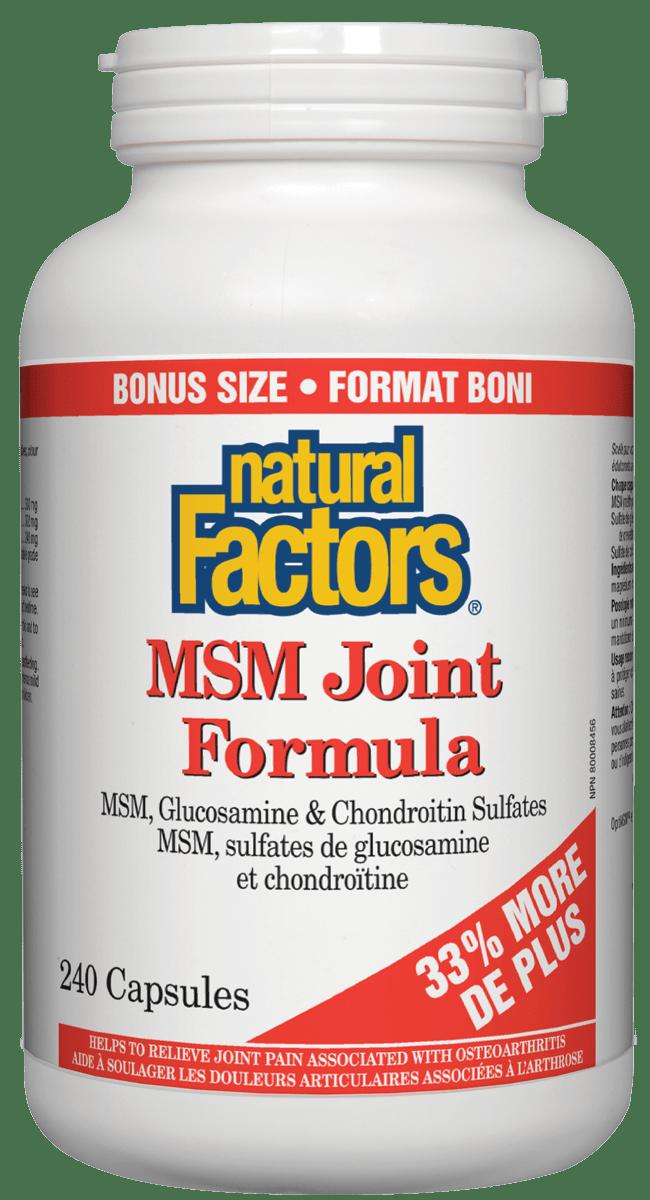 Natural Factors Natural Factors - MSM Joint Formula - 240 Caps