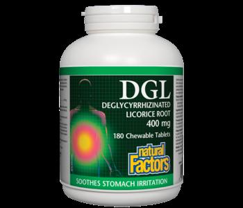 Natural Factors - DGL - 180 Cewable Tabs