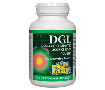 Natural Factors - DGL - 90 Chewable Tabs