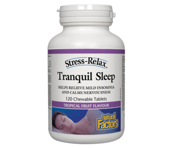 Natural Factors - Tranquil Sleep - 120 Chewable Tabs