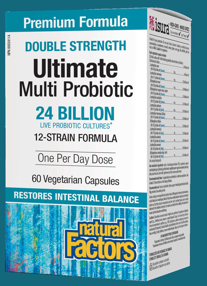 Natural Factors Natural Factors - Double Strength Ultimate Probiotic 24 Billion - 60 V-Caps