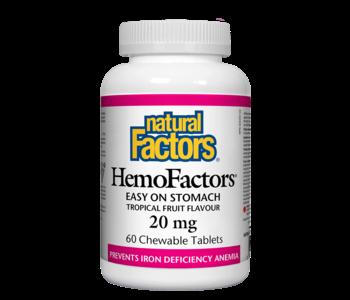 Natural Factors - HemoFactors - Tropical Fruit - 60 Chewable