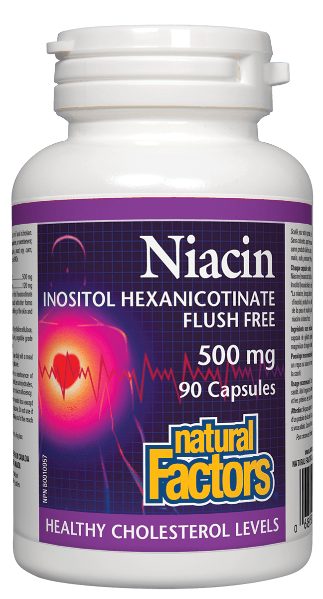 Natural Factors Natural Factors - Niacin 500 mg - 90 Caps