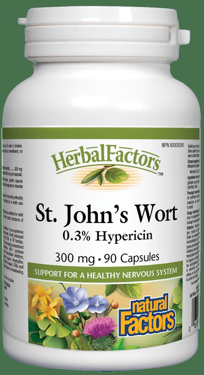 Natural Factors Natural Factors - St. John's Wort 300mg - 90 Caps