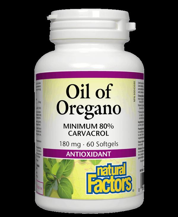 Natural Factors - Oil of Oregano 180 mg - 60 SG