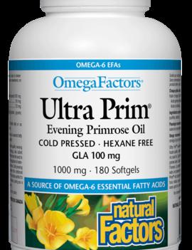 Natural Factors Natural Factors - Ultra Prim Evening Primrose Oil 1000 mg - 180 SG