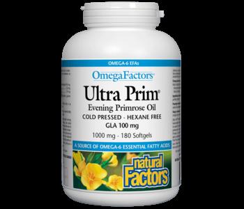 Natural Factors - Ultra Prim Evening Primrose Oil 1000 mg - 180 SG