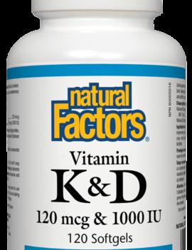 Natural Factors Natural Factors - Vitamin K & D - 120 SG