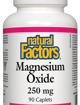 Natural Factors Natural Factors - Magnesium Oxide 250 mg - 90 Caplets