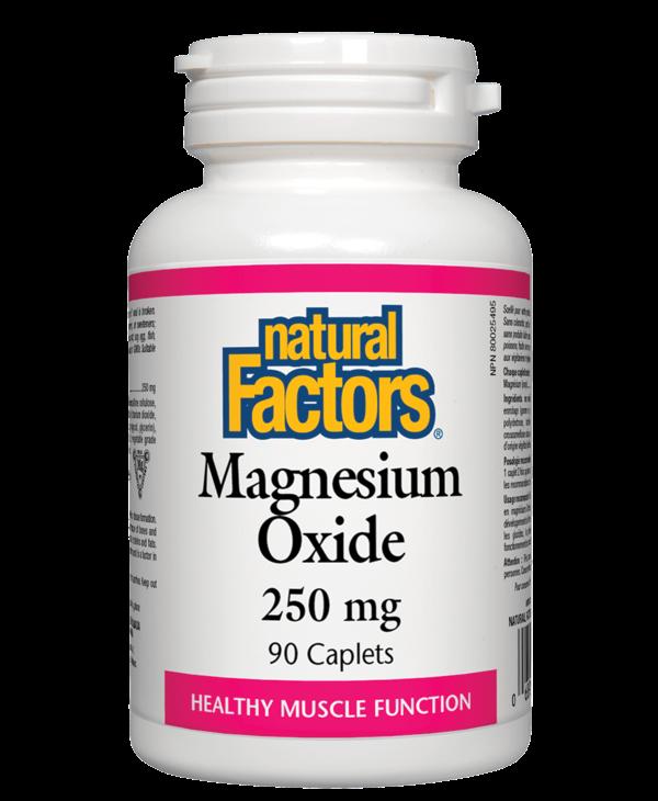 Natural Factors - Magnesium Oxide 250 mg - 90 Caplets