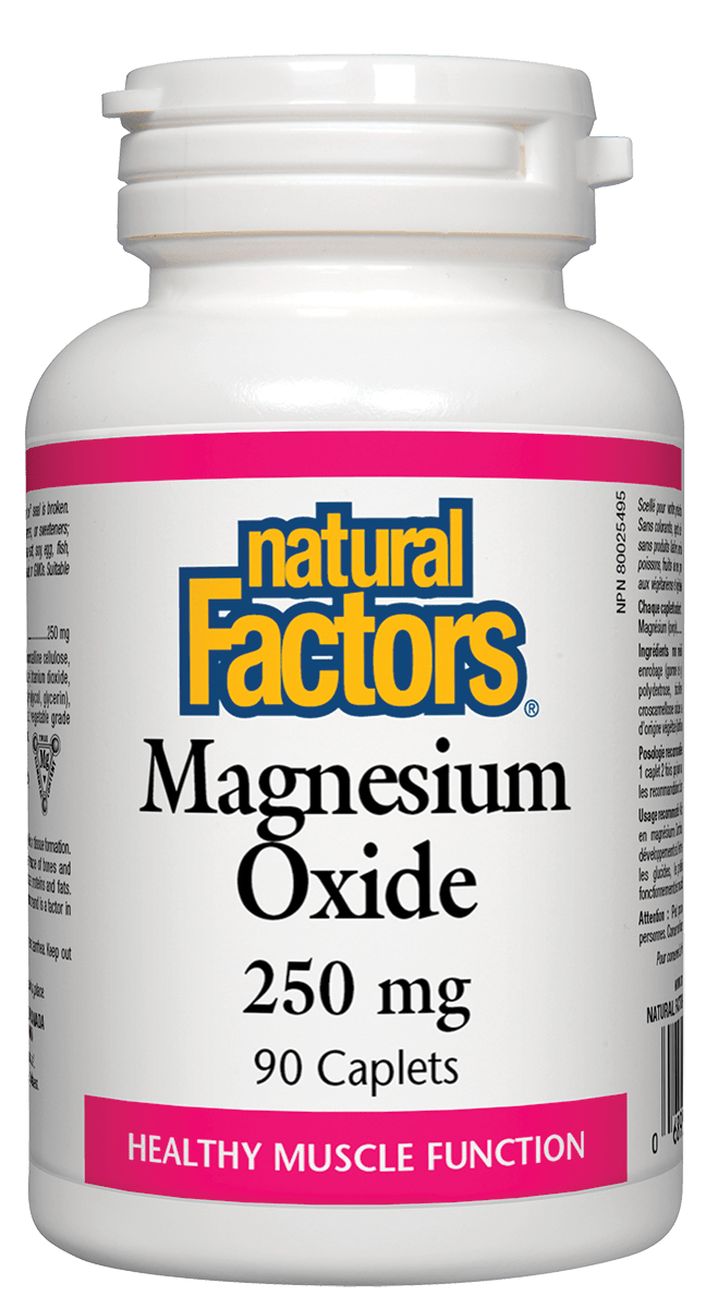 Natural Factors Natural Factors - Magnesium Oxide 250 mg - 90 Caplets