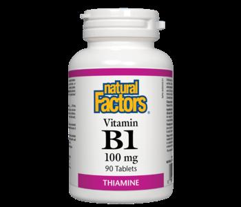 Natural Factors - Vitamin B1 100mg - 90 Tabs