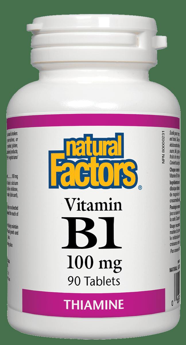 Natural Factors Natural Factors - Vitamin B1 100mg - 90 Tabs